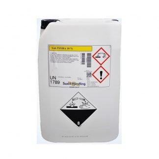 Saltsyra 10% , 26kg (pH-sänkande) saltsyra