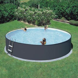 Summer Fun Standard Rund Pool 3,50 diameter – Stålpool i Antracit
