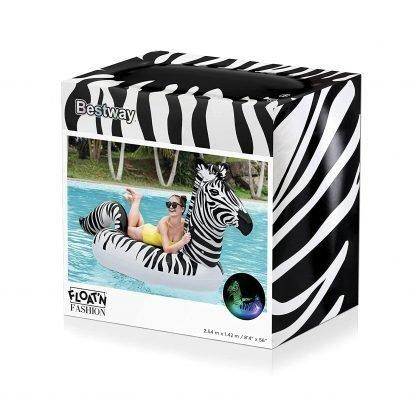 Badmadrass zebra med LED