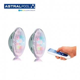 LED Lampa 2 x LumiPlus PAR56 1.11 RGB med fjärr