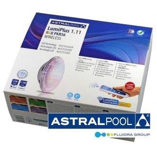 Utbytes poollampa med fjärrkontroll RGB